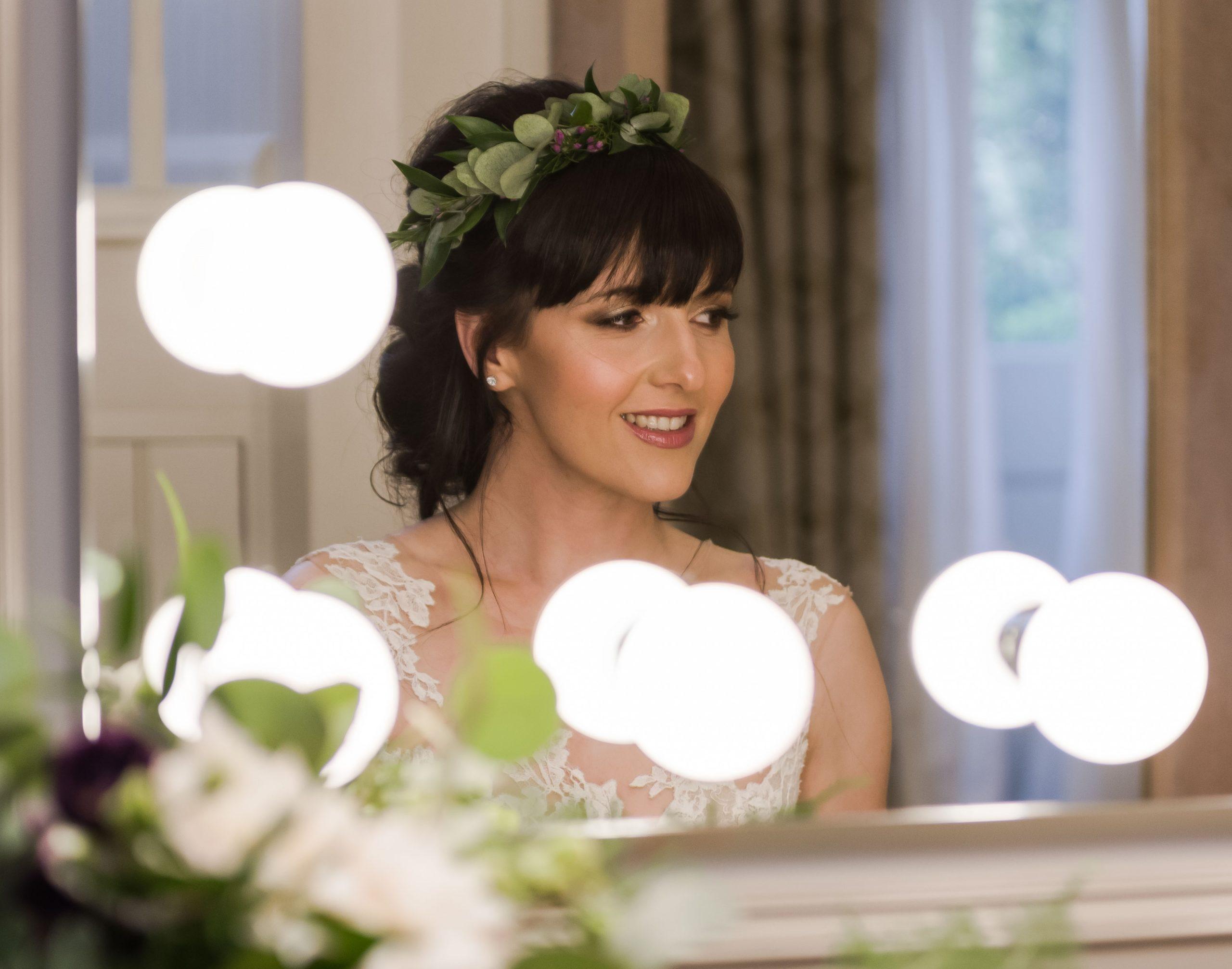 Bride hair up